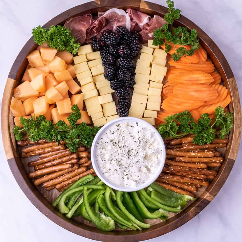 Easter bunny themed cheese plate