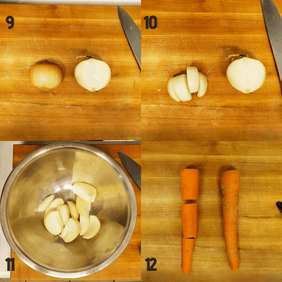 How to cut vegetables.